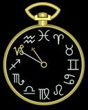 Zodiac Capricorn Clock royalty free stock images