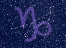 Zodiac Capricorn stars. Astronomy / Astrology / Space / Universe abstract background / backdrop illustration on Capricorn (The Sea-Goat, Goat-horned) Zodiac Royalty Free Stock Images