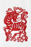 Zodiac Chinese Paper-cutting (Horse). Paper-cutting is a traditional Chinese folk art. The Chinese Zodiac is a scheme that relates each year to an animal and its Royalty Free Stock Photography