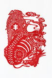 Zodiac Chinese Paper-cutting (Ox) Royalty Free Stock Image