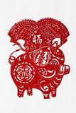 Zodiac Chinese Paper-cutting (Pig) Stock Images