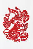Zodiac Chinese Paper-cutting (Rabbit) Royalty Free Stock Images