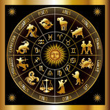 Zodiac circle Royalty Free Stock Photos