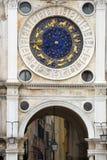 Zodiac clock. Unique Zodiac clock on Piazza San Marco, Venice royalty free stock photos