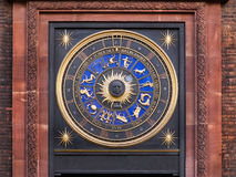 Zodiac clock. On a building in city of London Royalty Free Stock Photography