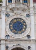 Zodiac clock. Astrological zodiac clock at St Marks Square in Venice royalty free stock photos