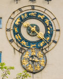 Zodiac clock stock image