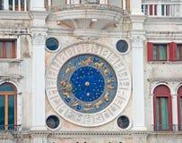 Zodiac clock closeup Royalty Free Stock Photography
