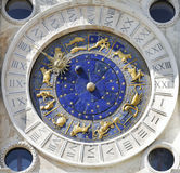 Zodiac clock. At San Marco square in Venice stock photography