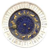 Zodiac clock  in Venice stock image