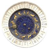 Zodiac clock at San Marco square in Venice royalty free stock photos