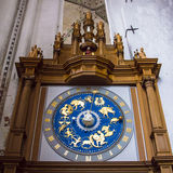 Zodiac clock. Showing all the twelve signs of the zodiac Stock Photography