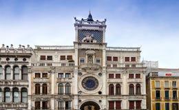 Zodiac Clock in St.Marks Square in Venice Stock Images