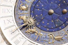 Zodiac clock in Venice Royalty Free Stock Photos