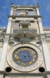 Zodiac clock, Venice, Italy. Zodiac clock in San Marco square, Venice, Italy royalty free stock photo