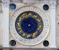 Zodiac clock in Venice Stock Photos