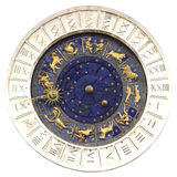 Zodiac clock  in Venice Stock Photo