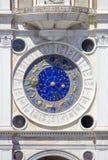 Zodiac clock in Venice, San Marco square, Italy. Zodiac clock in Venice, San Marco square in Italy stock photo