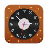 Zodiac clock. The vintage Zodiac clock illustration stock illustration