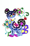 Zodiac color paper cutting Stock Images