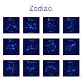 Zodiac constellations Vector illustration Royalty Free Stock Photo