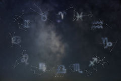 Zodiac constellations. Zodiac signs. Signs of zodiac. Zodiac constellations. Galaxy background. Zodiac constellations. Zodiac signs. Signs of zodiac.Galaxy royalty free stock image