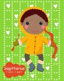 Zodiac-a cute boy sagittarius Stock Image