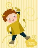 Zodiac-a cute boy taurus Stock Photo