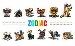Zodiac. Cute dog in zodiac suit Royalty Free Illustration