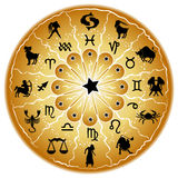 Zodiac disc Stock Images