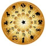 Zodiac disc. Illustration of a zodiac disc stock illustration