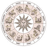 Zodiac  drawing Stock Images