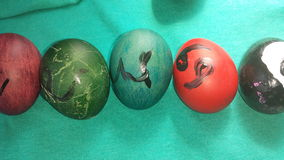 Zodiac Easter Eggs Royalty Free Stock Photography
