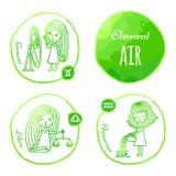 Zodiac element air Stock Photography