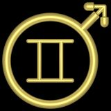 zodiac för 002 gemini Arkivbild