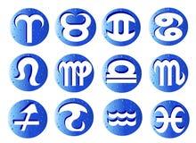 zodiac för 12 horoskoptecken Fotografering för Bildbyråer