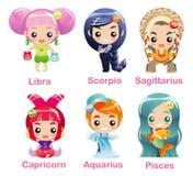 zodiac för 2 tecken för symbolsdel set Royaltyfria Bilder