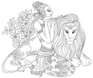 zodiac för leo lion tolv Arkivfoton