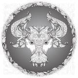 zodiac för vektor för illustrationteckentaurus Royaltyfria Bilder