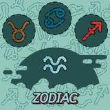 Zodiac flat concept icons Royalty Free Stock Photos