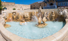 Zodiac Fountain in Jaffa Stock Photos