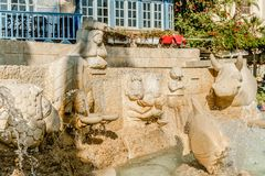 Zodiac fountain in old city jaffa. Historical place in israel Royalty Free Stock Photography