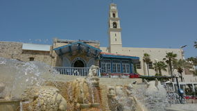 Zodiac Fountain in Old Jaffa, Tel Aviv, Israel stock video footage