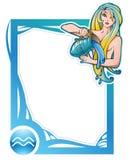 Zodiac frame series: Aquarius Stock Photo