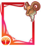 Zodiac frame series: Aries Stock Image