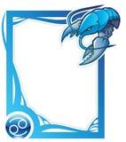 Zodiac frame series: Cancer Stock Image