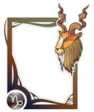 Zodiac frame series: Capricorn Royalty Free Stock Image