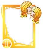 Zodiac frame series: Gemini Stock Image