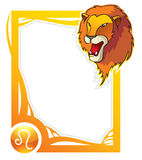 Zodiac frame series: Leo Royalty Free Stock Image