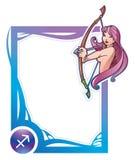 Zodiac frame series: Sagittarius Stock Photos